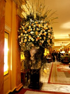 Big flower display in The Promenade at The Dorchester
