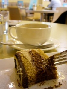 Cake at Meg Rivers Cafe, Chipping Campden