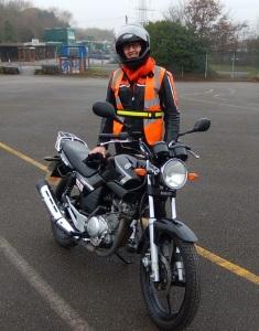 Training on Yamaha YBR at Wheels Birmingham